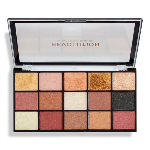 Makeup Revolution палитра сенки за очи Re-loaded Affection 15 цвята
