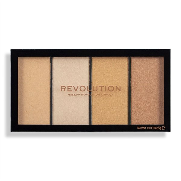Makeup Revolution палитра хайлайтър Re-Loaded Lustre Lights Warm 4 цвята