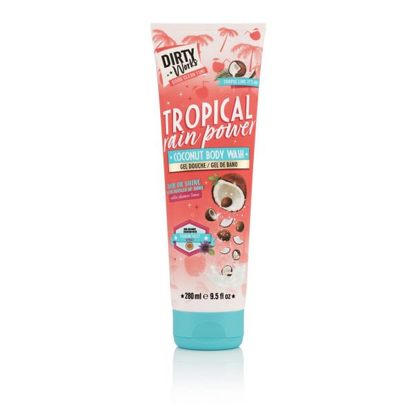 Dirty Works душ гел Tropical Rain Power Coconut 280мл.