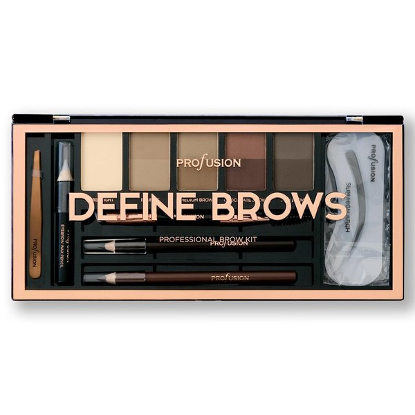 Profusion палитра DEFINE BROWS за вежди 15 части